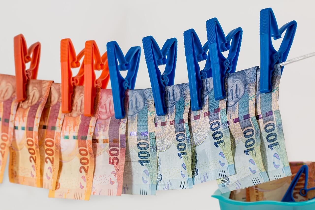 並べられた紙幣